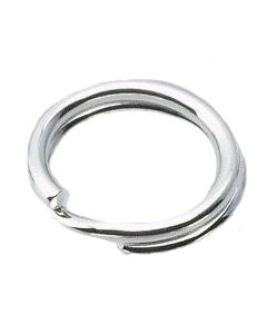 Metal 6mm Split Ring, silver colored - quantity of 10