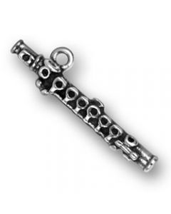 Sterling Silver Flute Charm  A-004