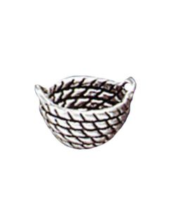 Sterling Silver Basket Charm: Laundry Basket