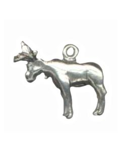 Sterling Silver Moose Charm: Large AA-1507