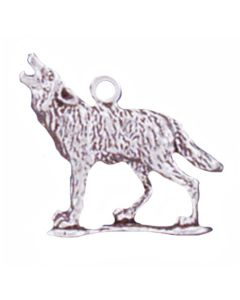 Sterling Silver Wolf Charm: Howling
