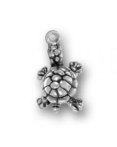 Sterling Silver Turtle Charm: Small AA-1525