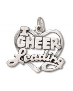 Sterling Silver I * Cheerleading Charm AAA-1671