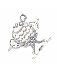 Sterling Silver Fish Charm: Angelfish AAA-1684