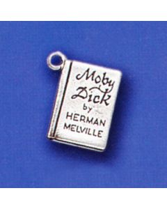 """Sterling Silver Book Charm: """"Moby Dick"""""""