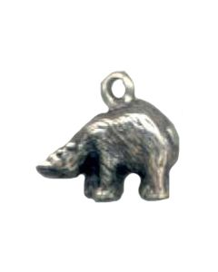 Sterling Silver Bear Charm: Polar