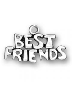 "Sterling Silver Best Friends Charm: ""Best Friends"""