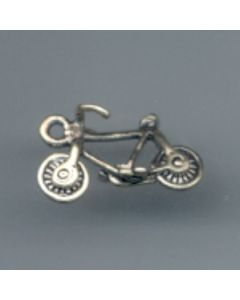 Sterling Silver Bicycle Bike Charm: Small