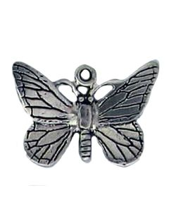 Sterling Silver Butterfly Charm: Large
