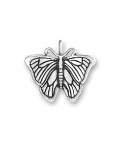 Sterling Silver Butterfly Charm: Small, 3D