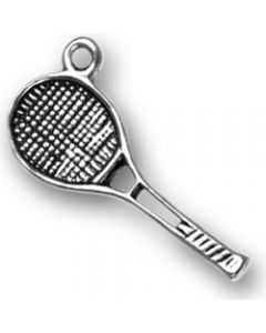 Sterling Silver Tennis Racquet Charm BB-1549