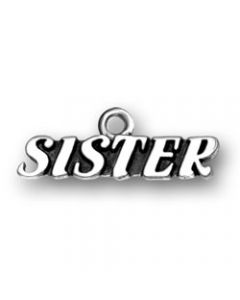 "Sterling Silver Sister Charm: ""Sister"" BB-1554"