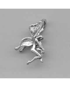 Sterling Silver Fairy Charm: Holding Knee