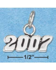 Sterling Silver Graduation 2007 Year Charm BB-1557
