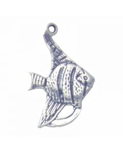 Sterling Silver Fish Charm: Angelfish BBB-1567