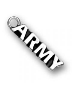 "Sterling Silver Military Charm: ""Army"""