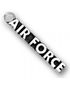 "Sterling Silver Military Charm: ""Air Force"""