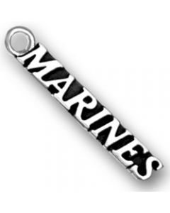 "Sterling Silver Military Charm: ""Marines"""