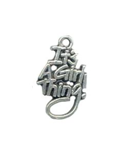"Sterling Silver ""It's a Girl Thing"" Charm"