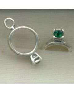 Sterling Silver Birthstone Ring Charm -005-May