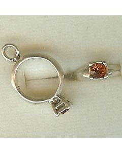 Sterling Silver Birthstone Ring Charm -011-November