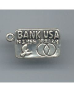 Sterling Silver Charge Card Charm: Bank USA