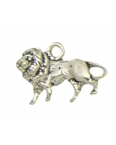 Sterling Silver Lion Charm: African