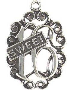 """Sterling Silver Birthday Charm: """"Sweet 16"""" CCC-1742"""