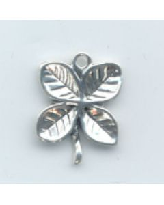 Sterling Silver Four Leaf Clover Charm  CCC-1748