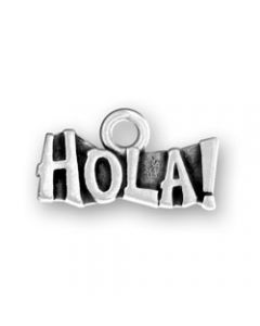 "Sterling Silver ""Hola"" Charm"