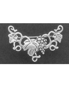 Sterling Silver Charm Pin: Grapes & Vines