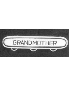 Sterling Silver Charm Pin: Grandmother