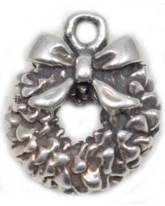 Sterling Silver Wreath Charm  D-114