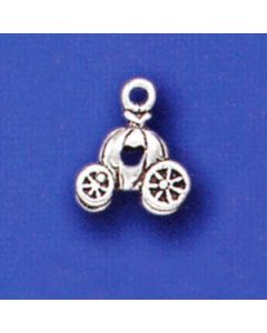 Sterling Silver Cinderella Charm: Pumpkin Carriage