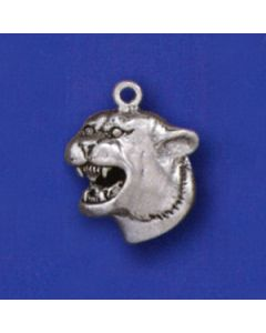 Sterling Silver Cougar Head Charm D-121