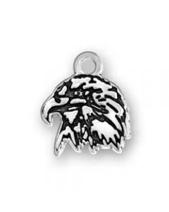 Sterling Silver Bird Charm: Eagle, Head DD-1620