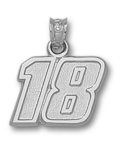 "Sterling Silver Kyle Busch Number ""18"" Charm"