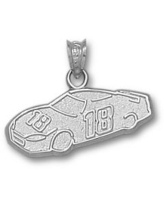 "Sterling Silver Kyle Busch Number ""18"" Car Charm"