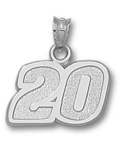 "Sterling Silver Joey Logano Number ""20"" Charm"