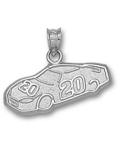 "Sterling Silver Joey Logano Number ""20"" Car Charm"