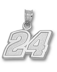 "Sterling Silver Jeff Gordon Number ""24"" Charm"