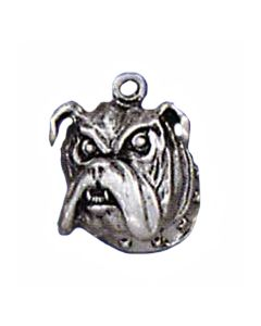 Sterling Silver Dog Charm: Bulldog, Head
