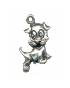 Sterling Silver Dog Charm: Puppy E-149