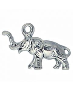 Sterling Silver Elephant Charm: Small