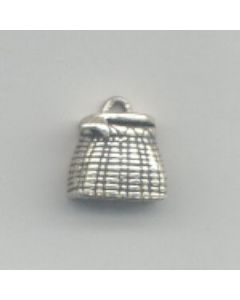 Sterling Silver Fishing Charm: Creel E-168