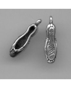 Sterling Silver Ballet Shoes Charm, Pair, Small - 2 piece