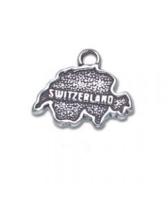 Sterling Silver Country Of Switzerland Charm