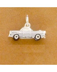 Sterling Silver Car Charm, 57 Chevy, Enamel  EN-073