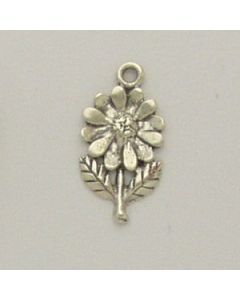 Sterling Silver Flower Charm: Daisy