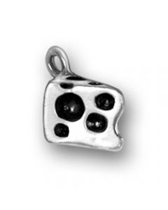 Sterling Silver Cheese Charm: Swiss